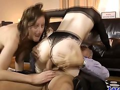 English milf cumswaps with hungarian babe