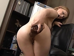 Innocent brunette has her ass bruised by brutal dildos