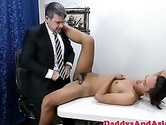 Pinoy twink barebacked by boss on desk