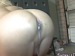 Shemale bore creampied