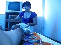 Asian masseuse jerk me off for chunky load!