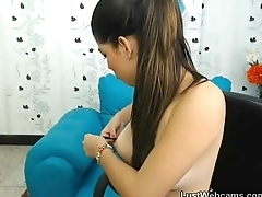Petite latina teasing on webcam