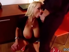 Beamy Natural Tit Step-Mom Caught Step-Son and Helps him