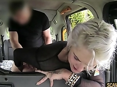 Hottie blonde passenger gets missionary pussy fucked