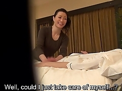 Subtitled Japanese milf massage therapist seduction take HD