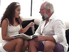 Young latina on high importantly older dick