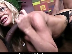 Hot Cougar cums hard on young black bushwa 4