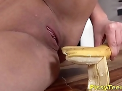 Dirty Niki Dream Sticks A Banana Thither Her Twat