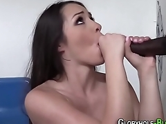 Teen gets interracial cum