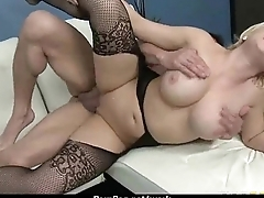 Slutty big tit office wage-earner loves to be dominated convenient work 15