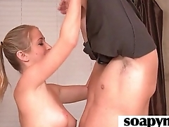 Masseuse shows her AMAZING synod regarding a hot soapy palpate 6