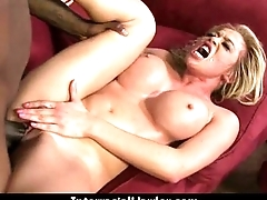 Busty Blonde Fucks and Sucks a Huge Dark Monster Cock 9