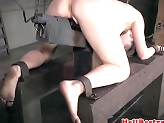 Pussyclamped submissive disciplined