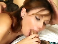 Teen babe gets cum facial