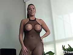 Eat your own cum for sexy Nikki Brooks