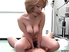 Astonishing Asian slut rides the cock on the floor