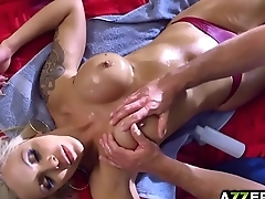 The Sitter Gives Nina Elle A Massage3 Sitting