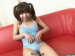 Infinitesimal and adorable Asian teen getting element spunked