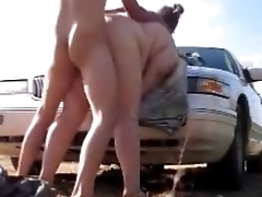 Sexy Mom Get Ass Fucked On Car Hood Yawning chasm Creampie And Orgasm