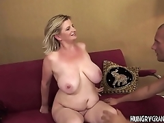 Fat Granny Gives A Good Tit Fuck
