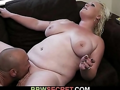 Cheating hubby getting busted fucking bbw