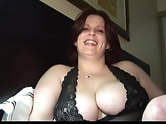 bbw blue milf takes a load from DesireBBWs .com