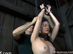 Zealous sex-toy act for babe
