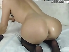 Squirt in heels anal fucking and nylon look-in sucking