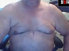 Straight Bear flexing and shows cock BHB